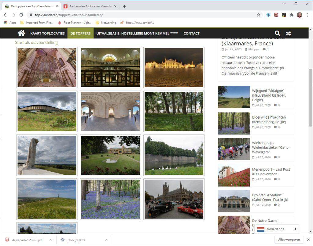 Top.Vlaanderen geeft een mooi overzicht van toeristische attracties in Vlaanderen.